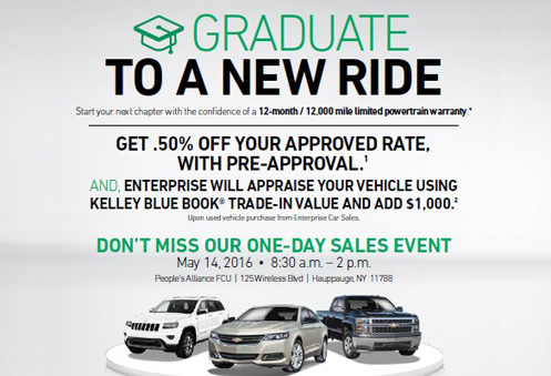 Graduate to a new ride!