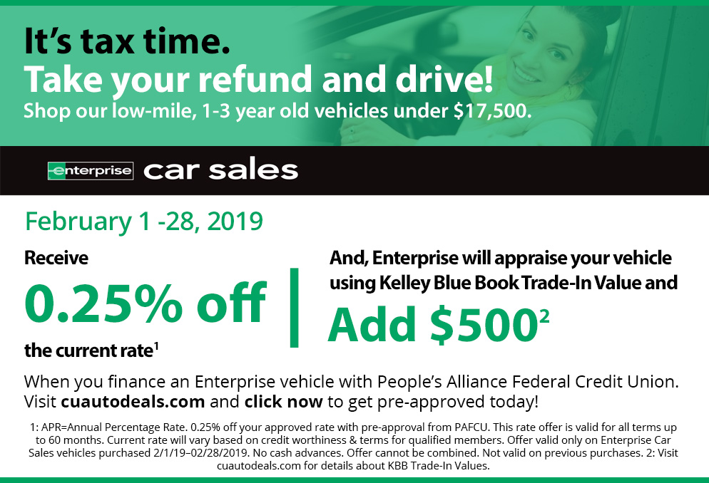Its tax time. Take your refund and drive!